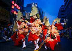 Nihoren Women's Performance in Blue Hour @ Mitaka Awaodori 2016 (Apricot Cafe) Tags: awaodori canonef1635mmf28liiusm japan mitaka mitakaawaodori nihoren tokyo dancing festival performance summer    mitakashi tkyto jp img648979