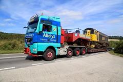 20901 Eckington B6052  16 Aug 16 (doughnut14) Tags: 20901 rail freight diesel loco gbrf class20 barrow hill allelys lowloader barrowhill eckington b6052 transport wideload heavyhaulage derbyshire