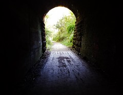 into the great wide open.... (BillsExplorations) Tags: train railroad tunnel railtunnel traintunnel old historic darkness badgerstatetrail biketrail bikepath pedestrianwalkway