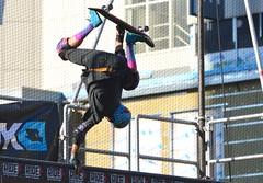 Vert Skateboarder Doing Handplant (Greg's Southern Ontario (catching Up Slowly)) Tags: skateboarding skateboarder toronto dundassquare sports nikon nikond3200 sportsphotography skateboardhandplant vertskateboarding