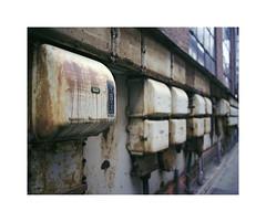 fuse boxes (ha*voc) Tags: mamiya7ii 65mm 220 mediumformat rangefinder film 6x7 fujinps160 urban urbanfragments bokeh rusty denmark helsingr