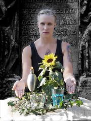 Die Elemente (ingrid eulenfan) Tags: portrait model frau woman elemente elements wasser luft erde feuer person
