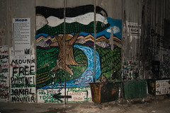Banksy's Shop (stefanos-) Tags: travelling backpacking palestine holyland christianity wall graffiti nazareth jesus bethlehem westbank