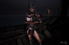 Viking (harleyjane44er) Tags: secondlife sl sexy busty blonde boobs leather pornstar hardbody harley