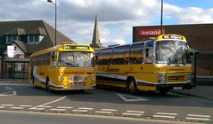 At close of play. (Renown) Tags: bus coach dualpurpose leyland leopard tiger alexander ytype supremev plaxton ors60r uvt14x stevensons uttoxeter busstation stevensons90 staffordshire