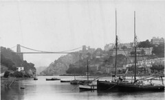 Clifton Suspension Bridge from Ashton Fields (Boxbrownie3) Tags: riveravon cliftonsuspensionbridge paddlesteamer campbells bristol pa