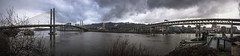 typical weather (sebboh) Tags: carlzeisscontaxg45mmf2planar sonya7 zeissrokkorfrankenlens portland oregon pdx rain omsi downtown willametteriver cityscape panorama stitch