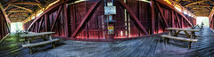Stillwater Bridge Panorama, 2016.09.14 (Aaron Glenn Campbell) Tags: stillwater stillwatercoveredbridgeno134 columbiacounty pennsylvania rural country architecture building structure interior wooden history itourcolumbiamontour photomerge panorama 2ev macphun aurorahdrpro hdr sony a6000 ilce6000 a6k sonyalpha6000 mirrorless rokinon 12mmf2edasifncs wideangle primelens manualfocus emount
