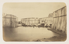 [Men Bathing, and French Sailors, Right, Fort San Juan de Ulua] (SMU Central University Libraries) Tags: castillodesanjuandeulua mexico baths sailors
