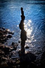Steinturm (Smo42) Tags: sonnenlicht stein turm balance art fluss elbe sonya58 sal1650