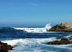 Asilomar waves (3) (bulldog008) Tags: ocean california blue sea white motion texture nature wet water beautiful stone coast monterey surf waves break power pacific grove crash rocky scene spray shore coastline splash asilomar