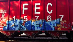 lunch leaf (RealestForreal) Tags: train lunch graffiti leaf trains boxcar lh hopper freight boxcars freights eka ower fr8 fec nezo graffititrain ync kbt graffitifreight fechopper