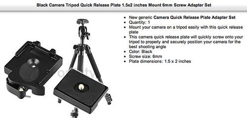 eforcity Camera Tripod Quick Release