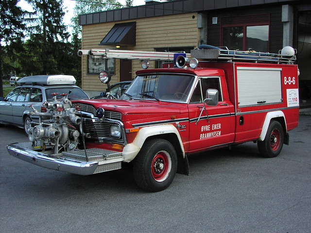 norway fire norge jeep firetruck brann