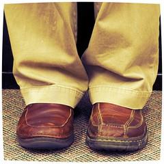 Something New (Jeremy Stockwell) Tags: new selfportrait me self nikon shoes different no mismatched asymmetric somethingnew d40 jeremystockwell selfportraitchallenge jeremystockwellpix nikond40 differentbutsame differentbutdifferent getsquishjustlikegrape obscurekaratekidlines theoldmanislosingit