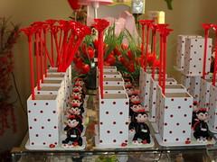 Lembrancinha aniversrio centro de mesa (Ateli Mos e Arte Biscuit & Cia by Amariles C) Tags: biscuit lpis festa aniversrio joaninha mdf portalpis centrodemesa