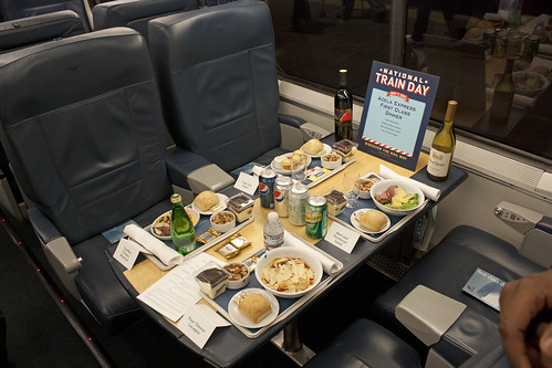 Acela First Class Meal