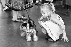 Girl and Dog (law_kid) Tags: bw film iso400 canona1 selfdeveloped ultrafinextreme