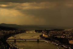 City (Nehsa) Tags: bridge water clouds river evening hungary budapest duna ashen nehsa