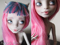 Rochelle Repaint (happy dolls) Tags: cute monster ball high doll ebay forsale sweet adorable kawaii bjd etsy custom happydolls fa fs paypal rochelle jointed repaint goyle foradoption onlineshop hellohappy