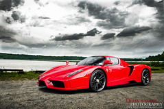 Oh look, an Enzo! (Derek Walker Photo (Derk Photography)) Tags: red ferrari enzo epic sky lake river water derk derek walker photography exotic car spotting shoot photoshoot rare clouds ground
