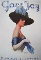 Publicité de la Maison Jay vers 1905 - Grenoble (38) (Yvette G.) Tags: grenoble jay publicité 38 affiche isère belleépoque gants ganterie