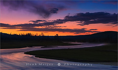 Sunrise Madison River - Yellowstone N.P (~ Floydian ~) Tags: longexposure usa cloud color colour water colors lines clouds composition sunrise canon river landscape dawn landscapes nationalpark colorful stream soft mood colours unitedstates smooth peaceful tranquility atmosphere line madison lee yellowstone serene meander wyoming np filters meijer henk meandering colourfulsky floydian leefilters canoneos1dsmarkiii henkmeijer