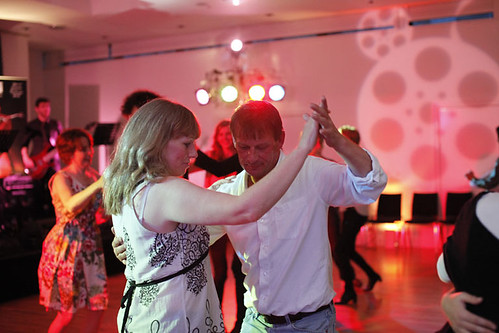 Guests dancing at the Ceilidh at Surgeons Hall
