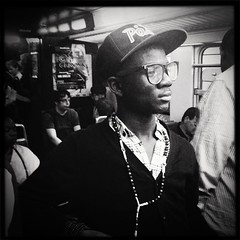 Fashions fade, style is eternal. (...) Tags: portrait people bw square publictransportation candid earlymorning iphone earlypeople iphone4 hisptamatic instagram early677