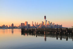 (pmarella) Tags: city nyc newyorkcity morning sky urban usa newyork color reflection building water skyline architecture sunrise reflections river landscape newjersey solitude cityscape shadows nj whatever viewlarge pmarella metropolis hudsonriver empirestate tranquil hoboken lowermanhattan donttrythisathome hudsoncounty amomentintime onthewaterfront anotherdayinparadise throughmyglasseye sigma1770mm riverviewpkproductions icoverthewaterfront myeyeshaveseenthis eos7d oneworldtradecenterakafreedomtower
