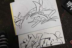 slckfuckr (OG_SLICK) Tags: black pen pencil ink graffiti book sketch slick sticker slap alphabet graff outline dzt dissizit