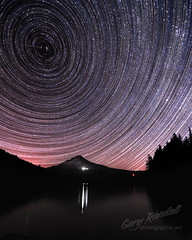 Spin Cycle (Gary Randall) Tags: sky night oregon mthood mounthood startrails trilliumlake dsc27632