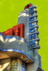 Cyclone Coaster Ticket Booth (Cat Girl 007) Tags: architecture colorado colorful denver lakeside exposition national whitecity nostalgic amusementpark coaster geographic texturebrushes cyclonecoasterticketboothcyclone artdecomodernarchitecture