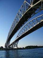 Blue Water Bridge (Port Huron, Michigan & Sarnia, Ontario) (cseeman) Tags: ontario canada michigan sarnia stclairriver bluewaterbridge porthuron internationalbridge internationalcrossing