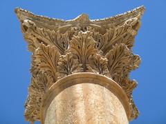 A Corinthian Column. (marc's pics&photos) Tags: old architecture geotagged ancienthistory ruins roman middleeast jordan jaresh