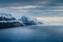Icefjord, Svalbard (Nikolay.Laletin) Tags: ocean blue sea snow cold tourism ice rock bay boat frozen ship north svalbard arctic melt northern spitsbergen archipelago              barentsberg