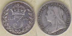 Threepence 1896 (Steve Mai) Tags: silver coin victoria 1896 threepence veiledhead