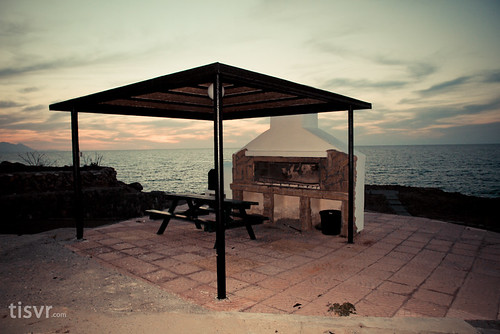 BBQ spot beside Mediterranean Sea