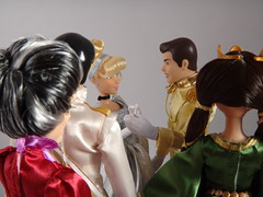 Cinderella at the Royal Ball - Who's That Girl #3 - Lady Tremaine Gets a Closeup Glimpse of Cinderella (drj1828) Tags: lady ball store doll dancing princess deluxe royal prince disney ballroom cinderella giftset charming waltz tremaine