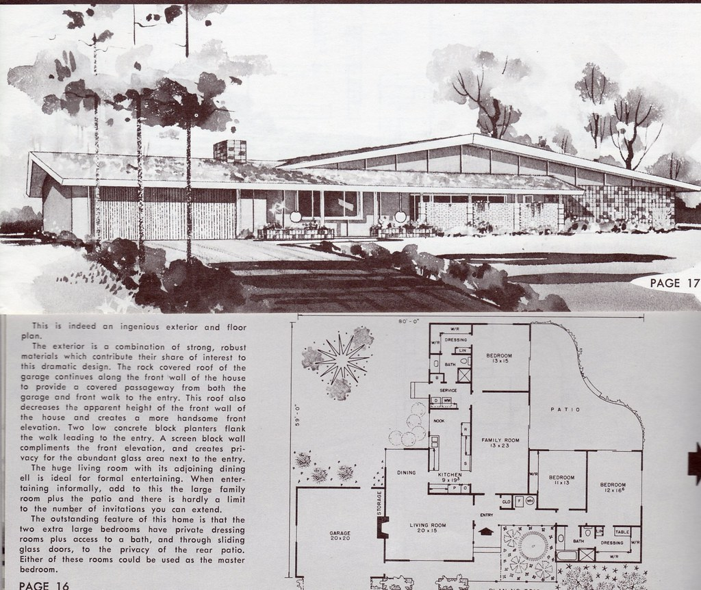 The world 39 s best photos of 1960s and homeplans flickr for Vintage ranch house plans