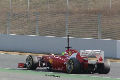 Felipe Massa in his Ferrari at Winter Testing, Circuit de Catalunya, March 2012
