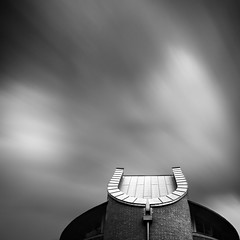 Horseshoe / Villain's Lair (Richard:Fraser) Tags: longexposure architecture seconds 2012 61 movingclouds blackandwhiteindustry