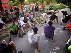 Breakdancing In Cleats (Bjorn1101) Tags: bike wisconsin race milwaukee bikerace 24hour wi bicyclerace 2012 24hours 24hourrace mke riverwest communityevent riverwest24