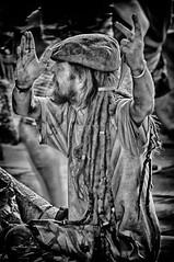 Agitation (Andy J Newman) Tags: bath england unitedkingdom gb candid street portrait rough dreadlock silverefex hdr hdrefex