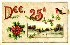Postcard; Vintage Christmas (Joe Geronimo) Tags: postcard postoffice newyear holiday christmas xmas moon michigan mackinac president newyork railroad train newhampshire bird fireworks family travel vacation usa america