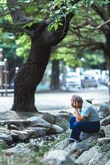 Stress (kyle_gallagher) Tags: 135mmf2 japan park   portrait