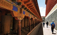 Kora Around Sakya Monastery 1 (joeng) Tags: tibet china sakya temple building sakyamonastery landscape monastery people places kora