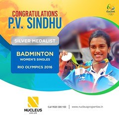 Truly a Lionhearted effort to earn the Silver Medal.  Congratulations P.V. Sindhu, you have made India proud! #RioOlympics2016  #Kerala #Kochi #India #Architecture #Home #Construction #City #Elegance #badminton #Elegant #Building #Beauty #Beautiful #Exqui (nucleusproperties) Tags: life beautiful kochi elegant style olympics kerala rio realestate lifestyle india luxury comfort apartment architecture interior badminton gorgeous design elegance beauty building exquisite view rioolympics2016 city construction atmosphere home living