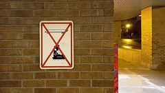Skateboarding Rollerblading Prohibited Sign (Exile on Ontario St) Tags: sign pancarte affiche signalisation warning avertissement signs signe panneau dfense dfendu prohibition prohibited forbid forbidden interdit interdiction montreal wall dont skateboard skateboarding rollerblading rollerblade patin patins patinage patiner rouesalignes rollers roller planche roulette skate board skating roulettes rouler roues alignes patinsroulettes patinroulette rollerskating complexeguyfavreau guyfavreau complexe guy favreau government building difice
