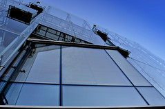36/365 - windows (eggii) Tags: project 365 lodz building windows blue sky window angle placwolnoci lines